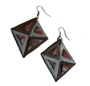 TRANSPARENT ABSTRACT EARRINGS