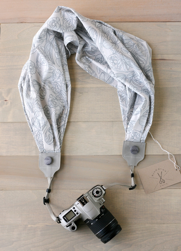 Scarf to camera strap