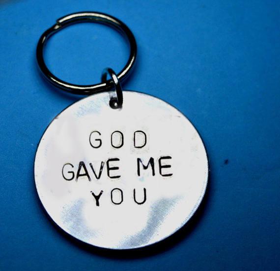 god gave me you keychain
